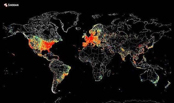Χάρτης αποκαλύπτει την δραστηριότητα του παγκόσμιου ιστού καθώς ο ήλιος δύει