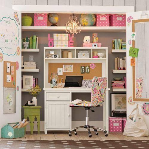 Cute closet desk