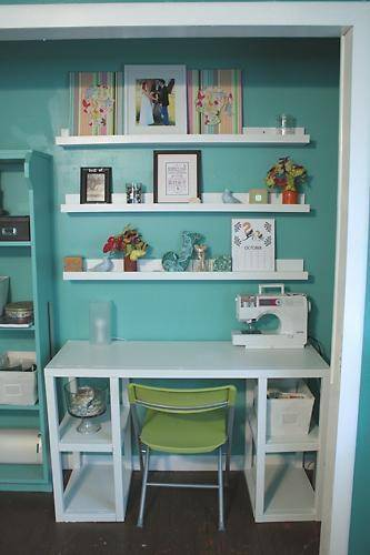 Craft Closet with desk
