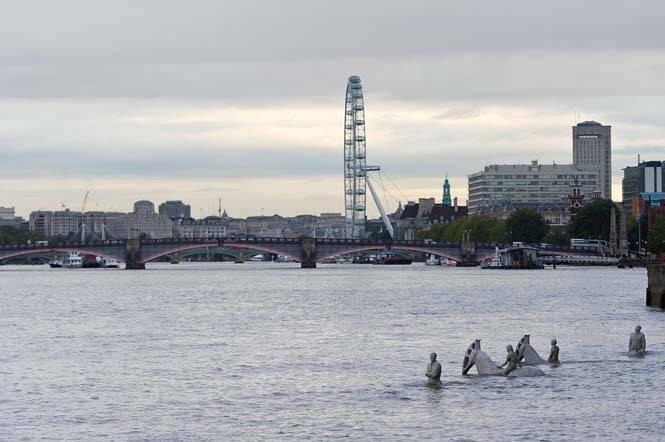 Οι τέσσερις καβαλάρηδες της Αποκάλυψης «αναδύονται» στο Λονδίνο σε ένα ακόμη μοναδικό project του Jason de Caires Taylor (17)