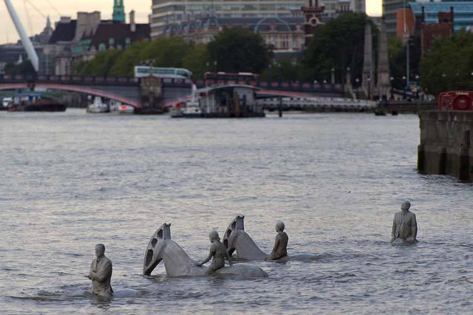 Οι τέσσερις καβαλάρηδες της Αποκάλυψης «αναδύονται» στο Λονδίνο σε ένα ακόμη μοναδικό project του Jason de Caires Taylor (18)