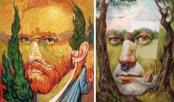 Οπτικές ψευδαισθήσεις και σουρεαλισμός σε πορτραίτα διάσημων προσωπικοτήτων