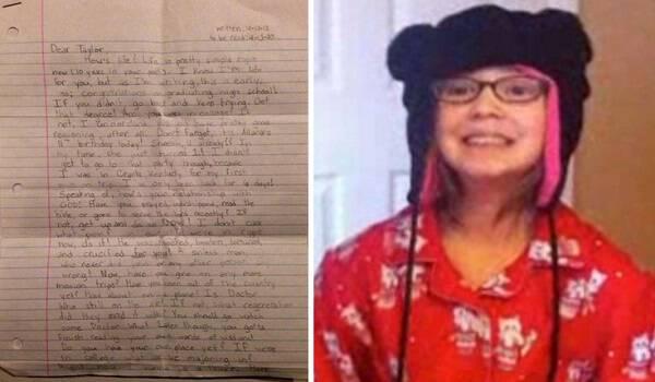 Δωδεκάχρονη που δεν ζει πια είχε γράψει γράμμα στον μελλοντικό εαυτό της