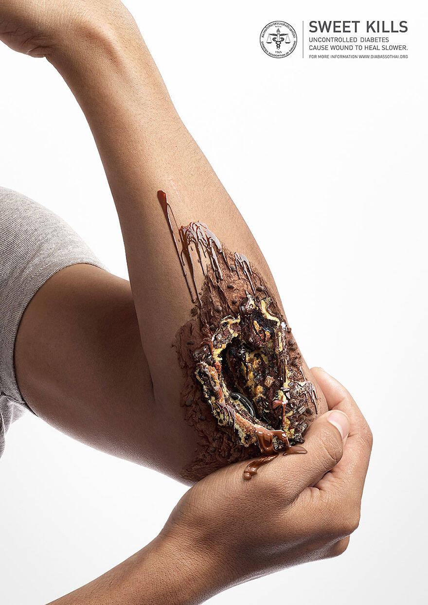 sweet kills sugar harm advertisement uncontrolled diabetes wounds 6