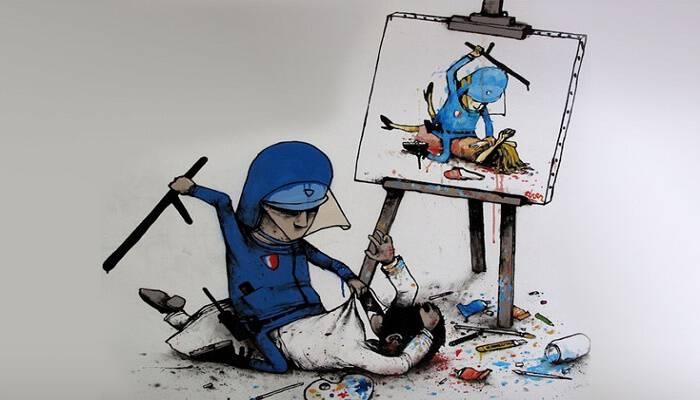 Ο «Γάλλος Banksy» κριτικάρει τη σύγχρονη ζωή με τα έργα του, Με χιούμορ που σπάει κόκκαλα μεταφέρει στους τοίχους τη φυσική παιδική φαντασία