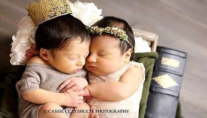 Τα νεογέννητα Ρωμαίος και Ιουλιέτα έκαναν μια ΑΠΙΣΤΕΥΤΗ φωτογράφιση, με στέμμα και δαντέλες!