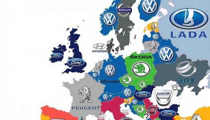 Αυτές είναι οι μάρκες αυτοκινήτων που κυριαρχούν στην Ευρώπη ανά χώρα (κορυφαία σε αγορές)