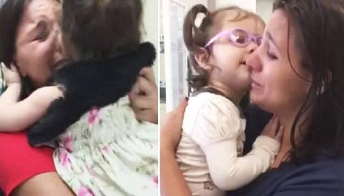 Κοριτσάκι 2 ετών βλέπει τη μαμά του για πρώτη φορά και τα συναισθήματα δεν περιγράφονται με λόγια