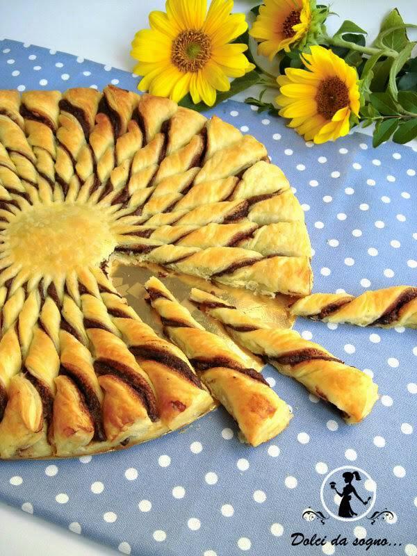 torta-girasole-di-pasta-sfoglia-e-nutella