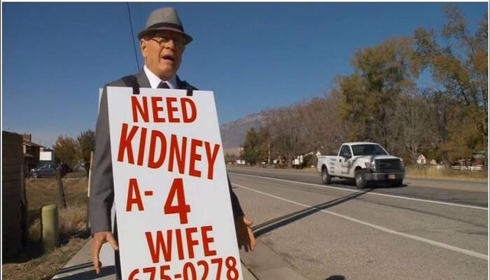 Συγκλονιστικό! 74χρονος περπατάει για ώρες κάθε μέρα , προσπαθώντας να βρει νεφρό για τη σύζυγο του