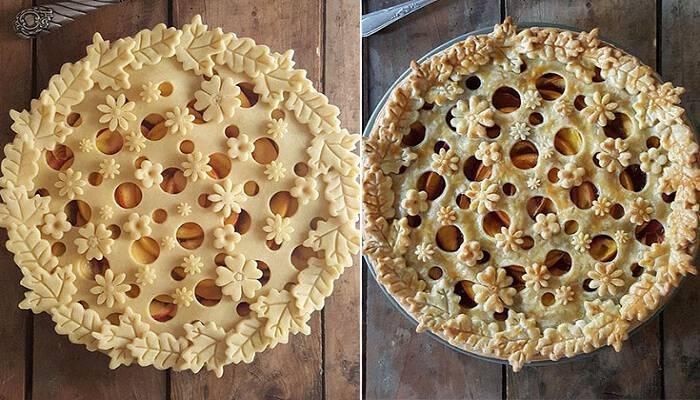 Φουρνάρισσα δείχνει τις απίστευτες πίτες της πριν και μετά το ψήσιμο και εμάς μας τρέχουν τα σάλια