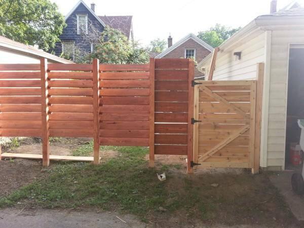 Cedar was used for the horizontal slats.