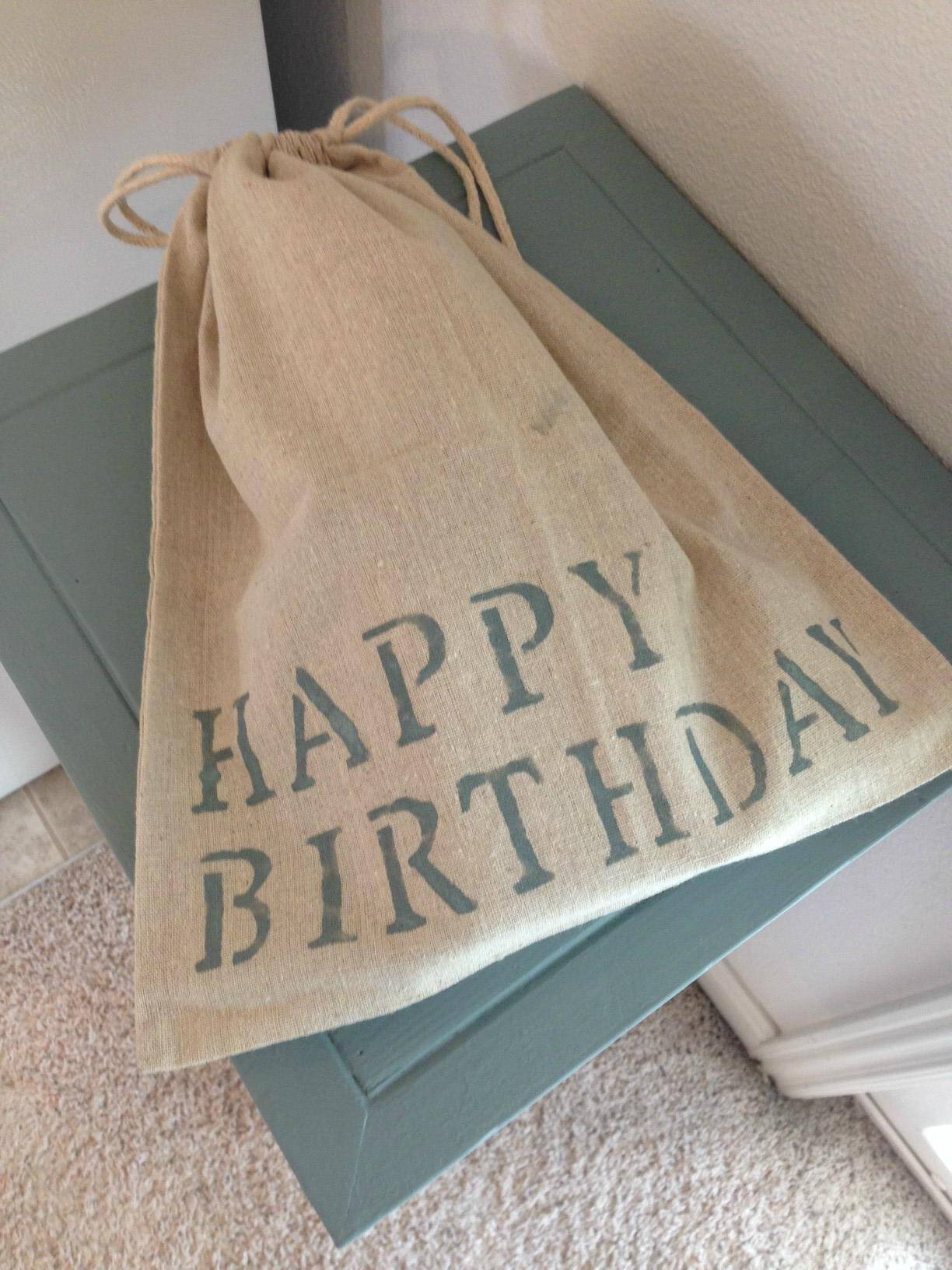 It's finished off with this awesome birthday bag. Something tells us he was stoked to receive this cool present.