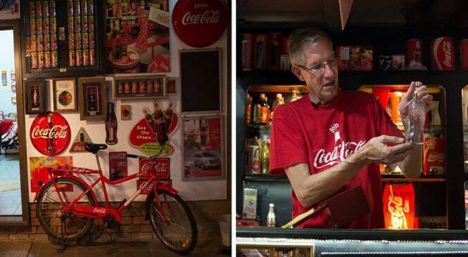 61χρονος εθισμένος στην Coca Cola πίνει καθημερινά 4 λίτρα αλλά το καλύτερο απ΄ όλα είναι το σπίτι του