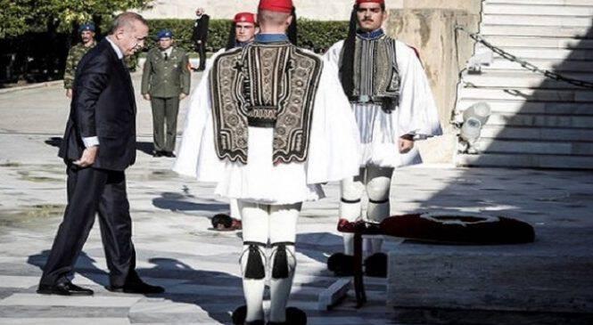 Οι Ευέλπιδες έσπασαν το πρωτόκολλο και έψαλαν τον Εθνικό Ύμνο μπροστά στον Ερντογάν