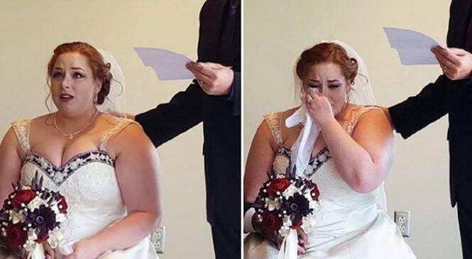 Νύφη ακούει τα λόγια που της έγραψε ο μπαμπάς της 17 χρόνια πριν για την ημέρα του γάμου της και ξεσπάει σε δάκρυα