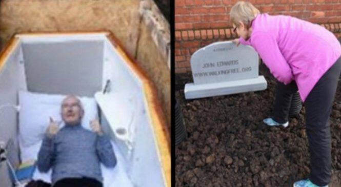 Αποχαιρέτησε την Γυναίκα του, μπήκε στο Φέρετρο και τον έθαψαν Ζωντανό. Μόλις δείτε ΓΙΑΤΙ το έκανε, θα Σοκαριστείτε!