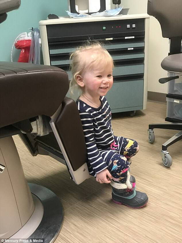 Ivy has to visit an allergist every two months, who monitors the youngster's condition