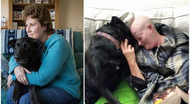 Γυναίκα διαγνώστηκε με καρκίνο μαζί με το κουτάβι της και πολεμούν μαζί την ασθένεια
