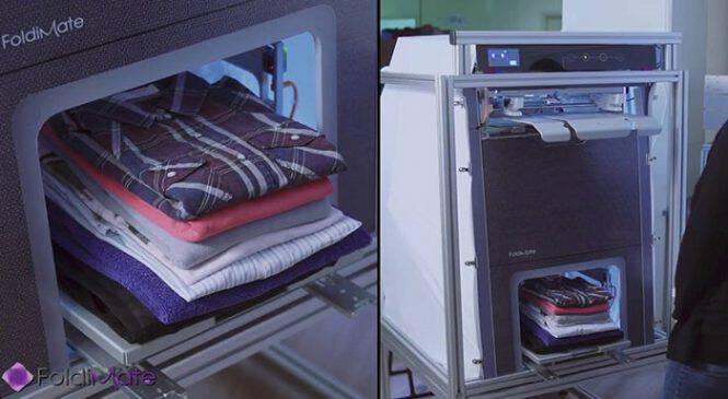Το μηχάνημα που διπλώνει τα ρούχα. Όταν δείτε πως διπλώνει τα πουκάμισα θα το λατρέψετε! (ΒΙΝΤΕΟ)