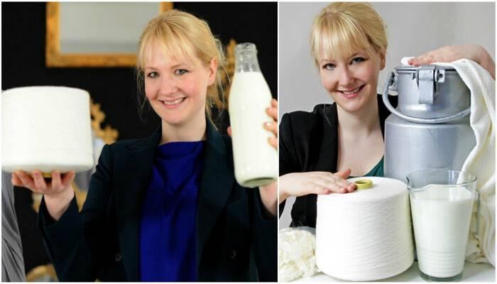 Σχεδιάστρια μόδας φτιάχνει ρούχα από ληγμένο γάλα 7475257d54d
