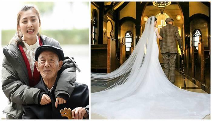 25χρονη έμαθε ότι ο παππούς της πέθαινε και οργάνωσε μια γαμήλια φωτογράφιση για να την καμαρώσει νυφούλα