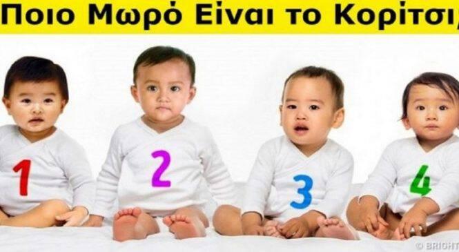 Ψυχολογικό Τεστ: Ποιο μωρό είναι κατά την άποψη σου κορίτσι; Δες τι δείχνει για τον χαρακτήρα σου!