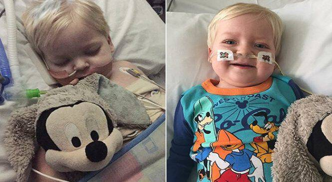 Ετοιμοθάνατο αγοράκι 2 ετών που πάλευε με σπάνια μορφή καρκίνου νίκησε την ασθένεια και είναι καλά στην υγεία του