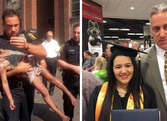 Πυροσβέστης έβγαλε 5χρονο κοριτσάκι από τις φλόγες και 20 χρόνια μετά πήγε στην αποφοίτηση του