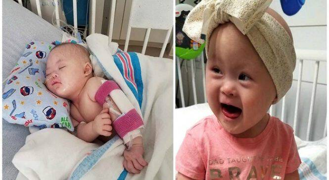 17 μηνών κοριτσάκι με σύνδρομο Down νίκησε δύο φορές τον καρκίνο και επιστρέφει σπίτι του μετά από 8 μήνες στο νοσοκομείο