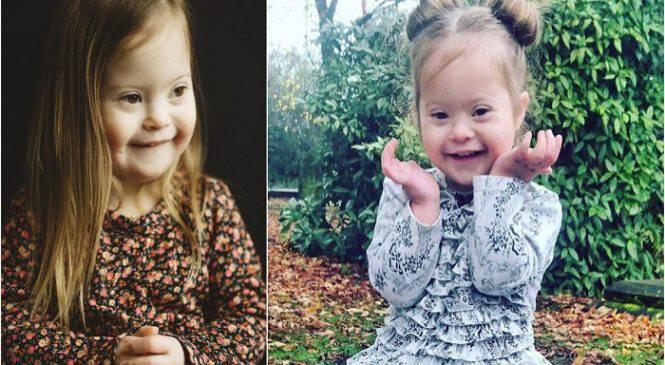 Ένα εκπληκτικό πλάσμα με σύνδρομο Down – Πώς από ένα viral καραόκε η 3χρονη Φρανσέσκα έγινε μοντέλο