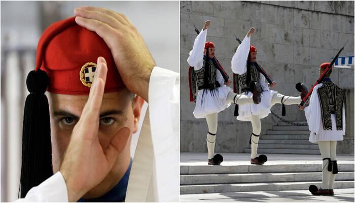 Οι θεϊκοί γίγαντες με τις φουστανέλες: το Associated Press υμνεί τους Έλληνες λεβέντες της προεδρικής φρουράς
