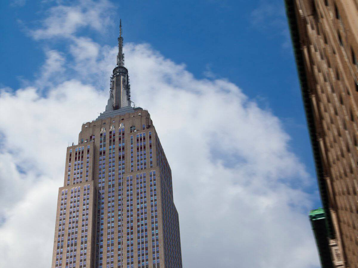 The Empire State Building in New York, New York.