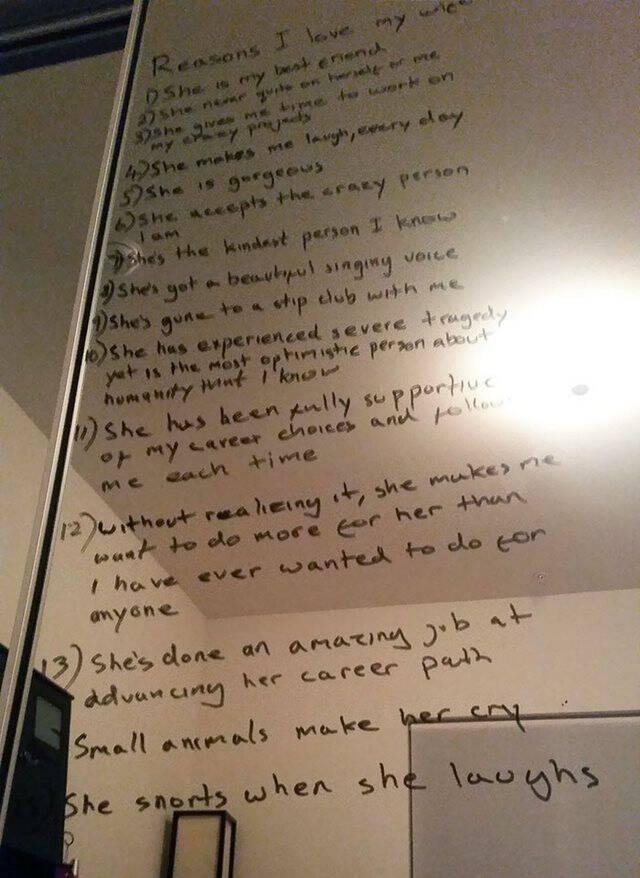 Σύζυγος έφτιαξε λίστα με τους λόγους που αγαπάει τη σύζυγό του που παλεύει με την κατάθλιψη - Εικόνα 3