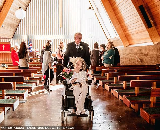 The couple struggled to get their legal affairs in order in time for an official marriage to be held, but St George's Methodist Church in Telford agreed to hold a blessing service that fulfilled the same purpose