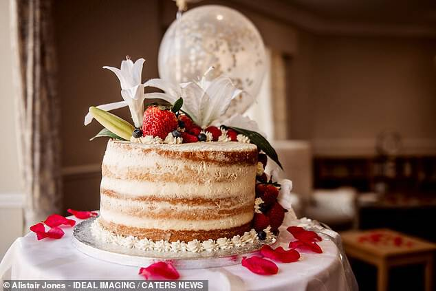 After the ceremony they decamped to the care home for celebratory drinks and a wedding cake which the two cut together