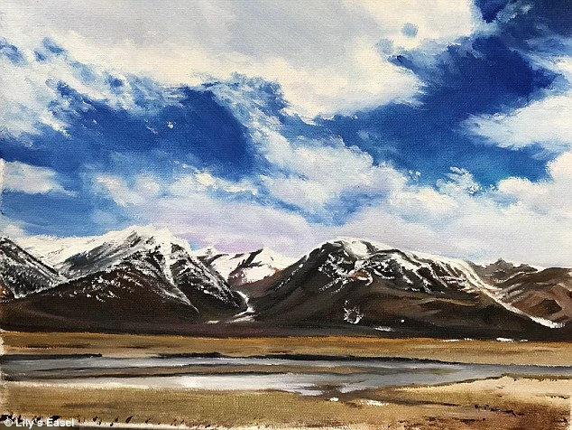 The painting 'Skies and Clouds' was sold for 666 yuan (£74) on Zhang's WeChat online shop
